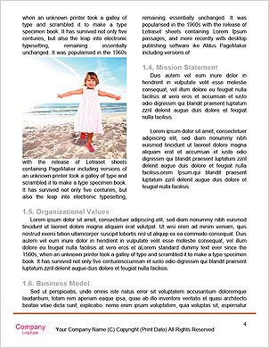 Young female running on the beach Word Template - Page 4