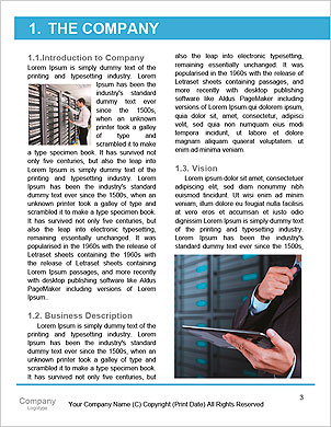 Programmer and icon control the system in data center room Word Template - Page 3