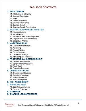 Obchodní muž psaní obchodní strategie Word šablony - Stránky 2
