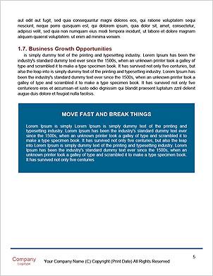 Obchodní muž psaní obchodní strategie Word šablony - Stránky 5