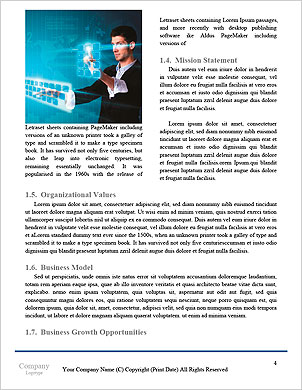 Business man pressing application button Word Template - Page 4