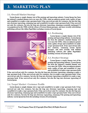 Business man pressing application button Word Template - Page 8