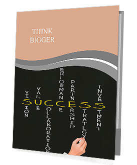Business hand writing success concept Presentation Folder