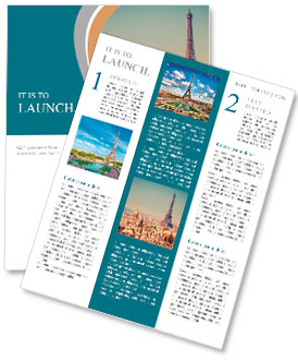 Eiffel Tower in Paris Newsletter Template