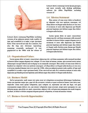 Man hand sign isolated on white background Word Template - Page 4