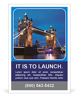 Tower Bridge in the evening Ad Template