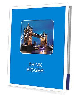 Tower Bridge in the evening Presentation Folder