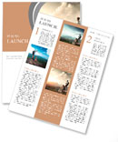 Tourists enjoying the beautiful view Newsletter Template
