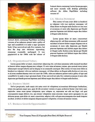 Dawn of the sun in field cropping Word Template - Page 4