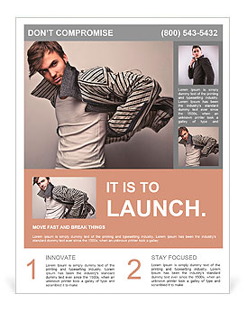 Young man posing Flyer Template