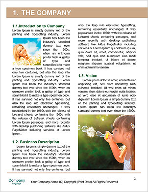 Girl enjoys soap bubbles Word Template - Page 3