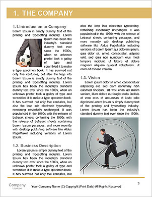 Man running inside the wheel Word Template - Page 3