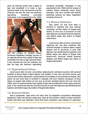 Man running inside the wheel Word Template - Page 4