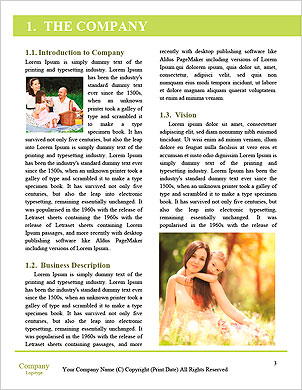Happy couple with a baby on the grass Word Template - Page 3