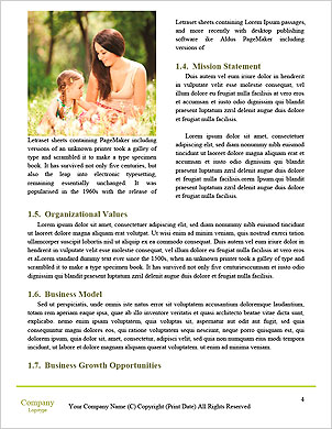 Happy couple with a baby on the grass Word Template - Page 4