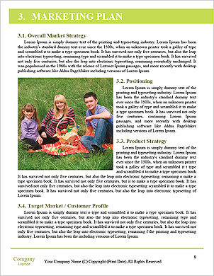 Happy couple with a baby on the grass Word Template - Page 8