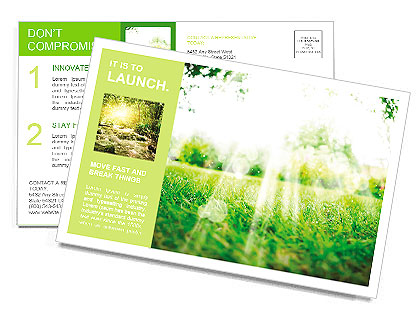 Summer sun on the lawn Postcard Template
