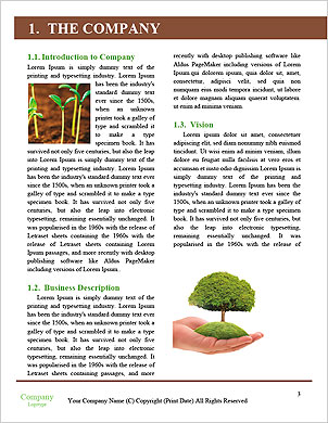 Green seedlings germinate Word Template - Page 3