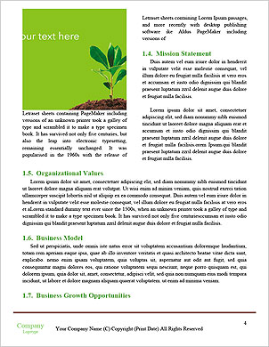 Green seedlings germinate Word Template - Page 4