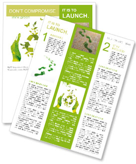 Sign ecology save nature together Newsletter Template