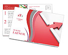 The two red arrows Postcard Template