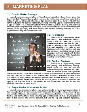 Businessman writes a word and its derivatives business Word Template - Page 8