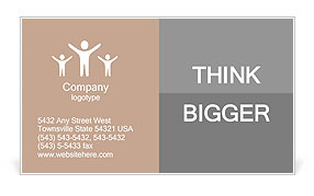 People walk on the street Business Card Template