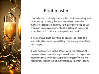 Festive glasses PowerPoint Template