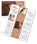 Face of beautiful girl with curly hair Newsletter Template