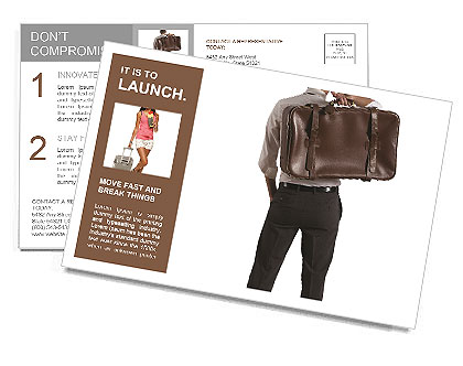The man with the bag behind Postcard Template