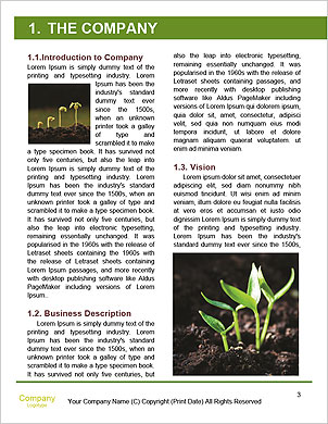 Green plant on a dark background Word Template - Page 3