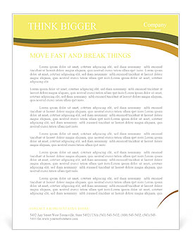 Sunset in Tuscany Letterhead Template