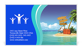 Ocean island voucher bags Business Card Template