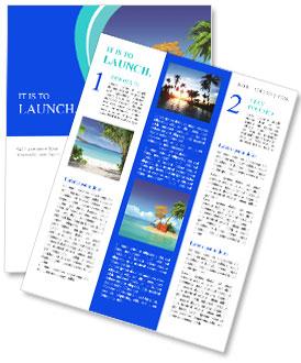 Ocean island voucher bags Newsletter Template