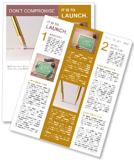 Pencil line and eraser Newsletter Template