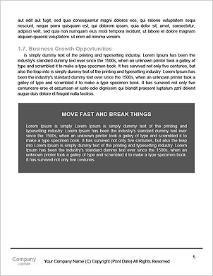 Traces of car tires in the form of letters Word Template - Page 5