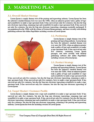 Dietní potraviny jablko Word šablony - Stránky 8