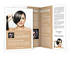 Beautiful girl with short hair Brochure Template