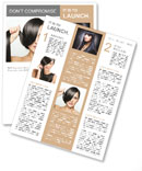 Beautiful girl with short hair Newsletter Template
