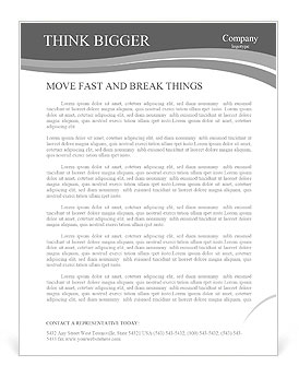 The idea of a man with a drawn Letterhead Template