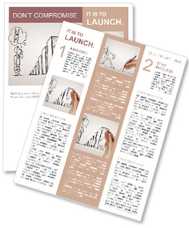 Hand drawing graphics and risks Newsletter Template
