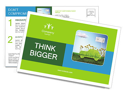 The concept of a green car of the future Postcard Template
