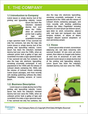 The concept of a green car of the future Word Template - Page 3