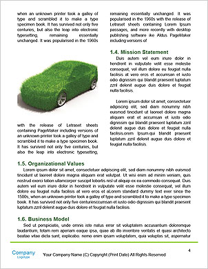 The concept of a green car of the future Word Template - Page 4