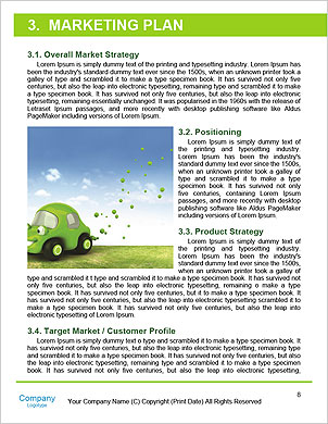 The concept of a green car of the future Word Template - Page 8