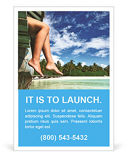 Female legs in nature Ad Template