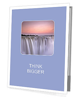 The magnificent waterfall at sunset Presentation Folder