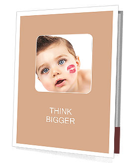 Kid with a kiss on the cheek Presentation Folder