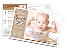 Happy baby Postcard Template