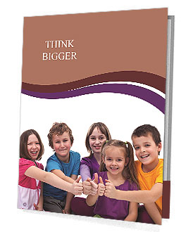 Happy kids on a white background Presentation Folder